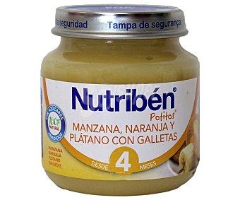 Nutribén Potito manzana, naranja y plátano galleta 130 g