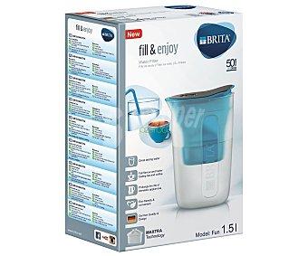 Brita Jarra Fill&Enjoy color azul con filtro purificador de agua, 1,5 litros de capacidad 1 unidad