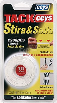 Ceys Cinta autosoldable. especial escapes y fugas Stira&Sella 19mm x 3 Metros