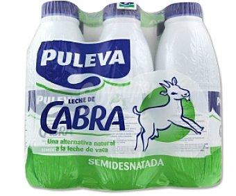 Puleva Leche de cabra semidesnatada Pack de 6 unidades de 1 litro