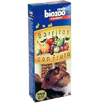BIOZOO AXIS Barritas con fruta para hámsteres Envase 2 unidades