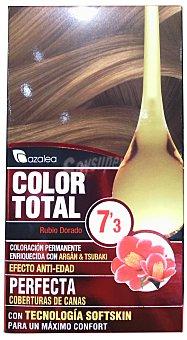 AZALEA Tinte coloracion permanente color total n 7,3 rubio dorado (enriquecido con aceite argan y tsubaki) unidad