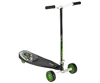 PULSE Patinete de 3 Ruedas Slither Plegable, Color Verde, Modelo 14022 1 Unidad
