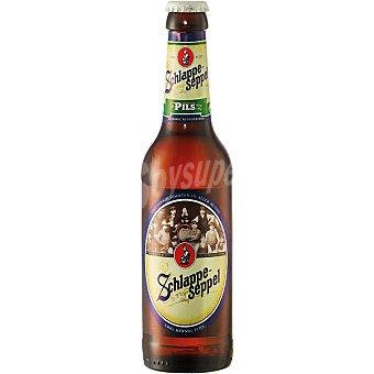 SCHLAPPE-SEPPEL Pilsen Cerveza rubia alemana botella 33 cl Botella 33 cl