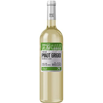 Wine and fly Vino blanco pinot grigio de Italia  Botella de 75 cl