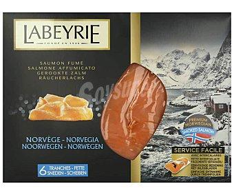 Labeyrie Salmón ahumado Noruega, 6 lonchas LABEYRE 190 g. 190 g