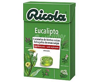 Ricola Caramelos de hierbas suizas, sin azúcar, sabor a eucalipto y efecto refrescante 50 g