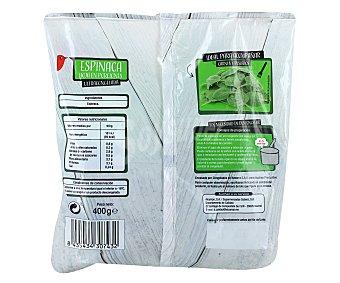 Auchan Hojas de espinacas en porciones Pack 2 unidades de 200 gramos