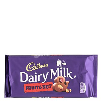CADBURY Fruit & Nut Chocolate con leche avellanas y pasas Tableta 200 g