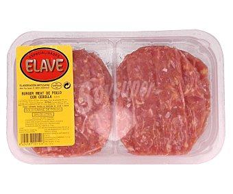 Elave Burger meat de pollo con cebolla Pack de 4 uds