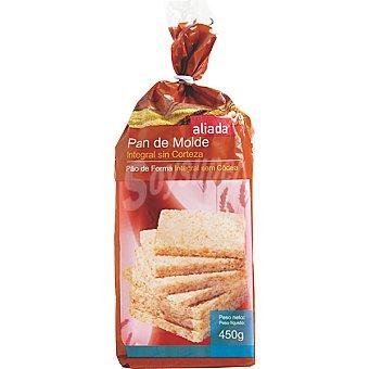 Aliada pan de molde integral sin corteza Bolsa 450 g