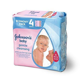 Johnson's Baby Toallitas bebé paquete pack 4 envase 224 ud Paquete pack 4