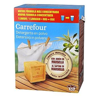 Carrefour Detergente en polvo jabon de marsella 50 cacitos