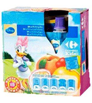 Carrefour Compota multifrutas Disney Pack de 6x90 g