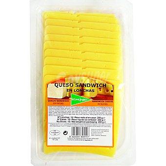 El Corte Inglés Queso de sándwich en lonchas Envase 200 g