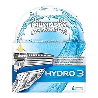 Wilkinson Recambio para maquinilla de afeitar Hydro 3 3 ud