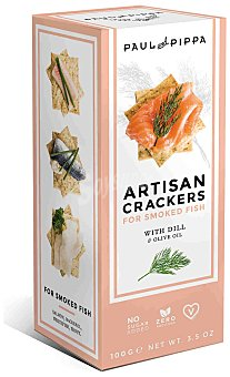 Paul and Pippa Artisan crackers artesanos con eneldo Envase 100 g