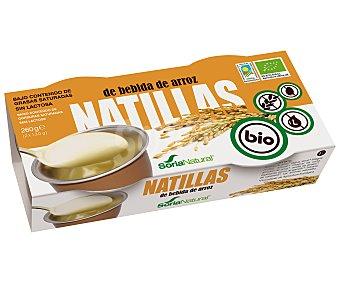 Soria Natural Natillas de bebida de arroz, Ecológicas,,  2x130 mililitros