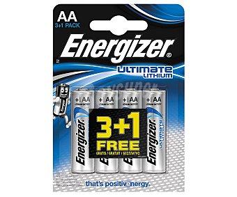 Energizer Pilas de litio AA/LR06, energizer Pack de 4