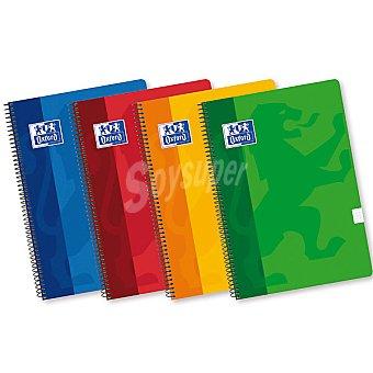 Oxford Cuaderno con espiral y tapas blandas Fº 80 hojas 4x4 en colores surtidos 90g