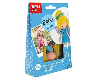 APLI Kit para construir una muñeca con forma de hada a base de materiales para realizar manualidades APLI