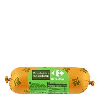 Carrefour Mortadela siciliana con aceitunas 400 g