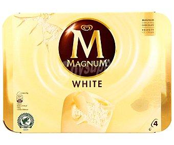 Magnum Frigo Helado blanco Pack 4 unidades de 120 mililitros