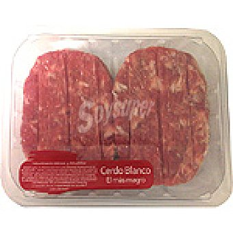 ROMA Hamburguesas de cerdo peso aproximado bandeja 400 g 4 unidades