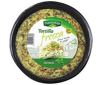 Fuentetaja Tortilla fresca con espinacas Envase 600 g