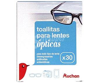 Auchan Toallitas Limpiagafas 30 Unidades