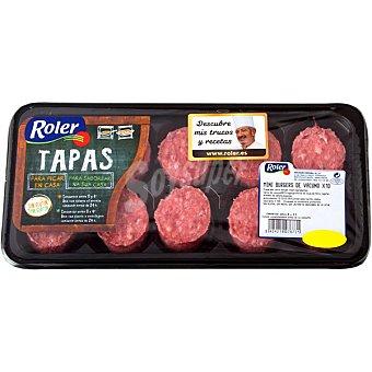 Roler Mini hamburguesas de ternera Bandeja 250 g