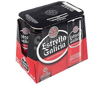 Estrella Galicia Cerveza especial Pack de 6x330 ml