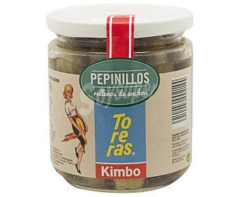 Kimbo Pepinillos rellenos de anchoa Frasco 150 g neto escurrido