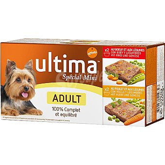ULTIMA ADULT Special Mini Para perro adulto surtido de carne con verduras y legumbres pack 4 tarrina 150 g Pack 4 tarrina 150 g