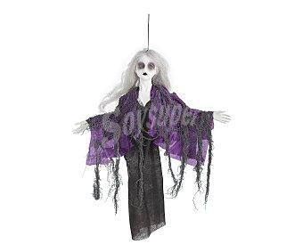 LLOPIS Accesorio de decoración Halloween Muñeca Colgante Encantada con luces, 50 centímetros Colgante muñeca 50cm