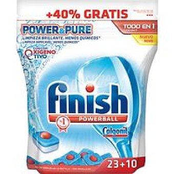FINISH CALGONIT Lavavajillas máquina Power&Pure Todo en 1 33 dosis