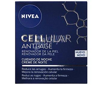 Nivea Crema de noche con activadores celulares tarro 50 ml reduce las arrugas y mejora el tono de la piel Celular Anti-edad Tarro 50 ml