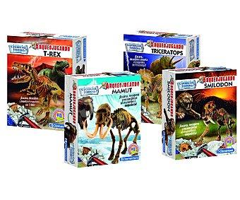 CLEMENTONI Juego científico Arqueojugando T-rex, Triceratops, Mamut o Smilodon 1 unidad