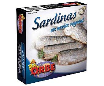 Orbe Sardinas en aceite vegetal Lata de 186 grs