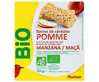 Auchan Barritas cereales manzana Biológicas 125 Gramos
