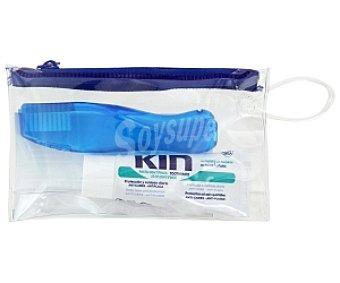 Kin Kit bolsa viaje ,cepillo dental y pasta de dientes 1 unidad