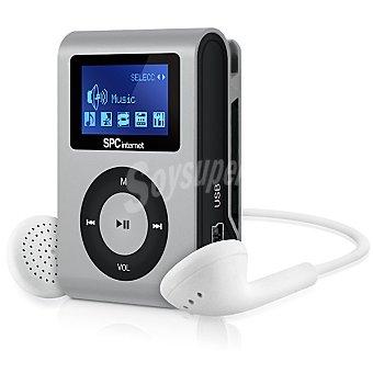 SPC TELECOM Reproductor MP3 de música Clip&go plata 4 GB