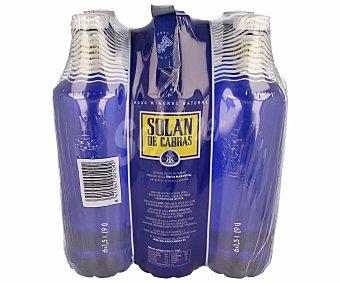 Solán de Cabras Agua mineral Pack 6x1,5 litros