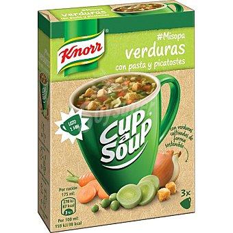 Knorr Misopa verdura con pasta y picatostes Envase 48 g