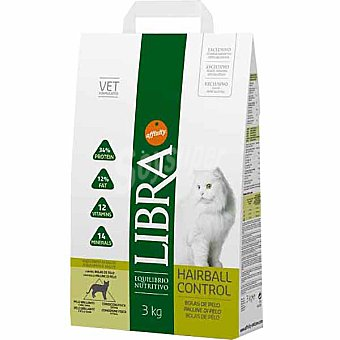 Libra Affinity Alimento equilibrado para gatos para el control de las bolas de pelo Hairball Control Bolsa 3 kg