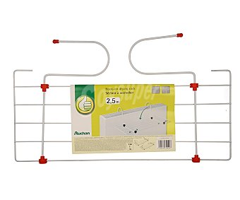 Productos Económicos Alcampo Tendedero de acero para radiador, 2,5 metros lineales de tendido 1 unidad