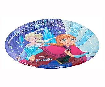 Disney Frozen Platos desechables de 23cm., con diseño Frozen, , disney 8 unidades