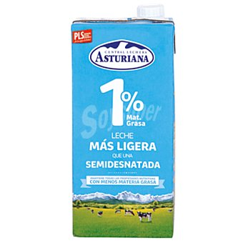 Central Lechera Asturiana leche 1% mg  brik 1 lt