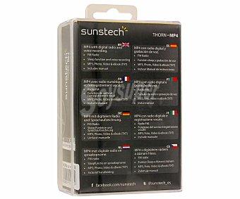 "SUNSTECH THORN4GBBK Reproductor MP4 4GB Pantalla 1.8"", lector de tarjetas microsd, color negro"