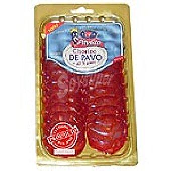 PAVLITO Chorizo de pavo en lonchas Sobre 100 g